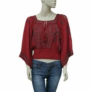 Free People Don't Back Down Embellished Top S